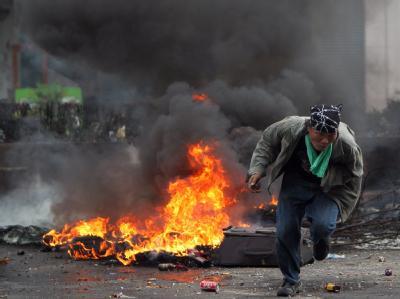 Zivilisten und Journalisten dürfen das besetzte Viertel nicht mehr betreten. Immer wieder waren Gewehrsalven zu hören.