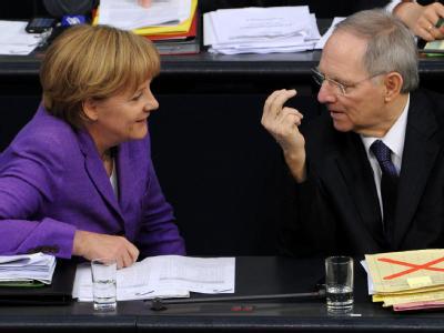 Kanzlerin Merkel und Finanzminister Schäuble