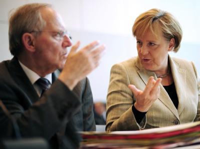 Finanzminister und Kanzlerin