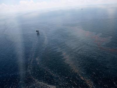 Der Öl-Teppich bedeckt große Wasserflächen im Golf von Mexiko.