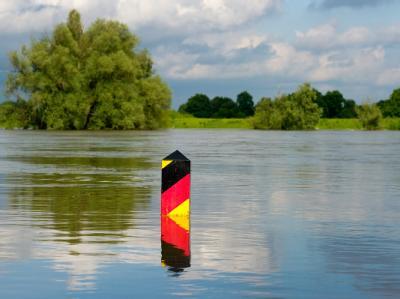 Grenze unter Wasser
