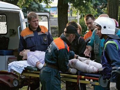 Opfer des Bombenanschlags in der südrussischen Stadt Stawropol.