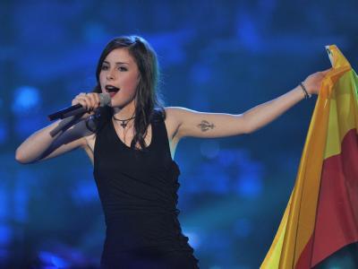 Lena während ihres Auftritts beim Eurovision Song Contest in Oslo.