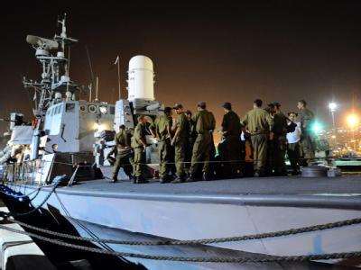 Israelische Soldaten bereiten sich auf die Aktion gegen die «Solidaritätsflotte» vor.
