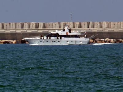 Free Gaza-Boot im Hafen von Ashdod