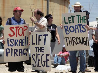 Israel st�rmt �Solidarit�tsflotte� - Demo Israel