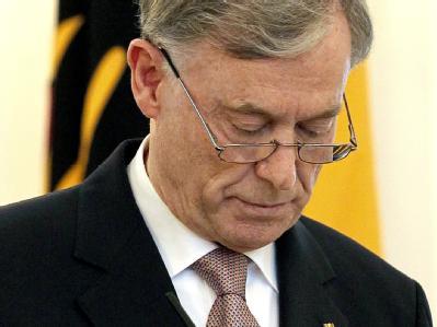 Bundespräsident Horst Köhler gibt seinen Rücktritt bekannt.