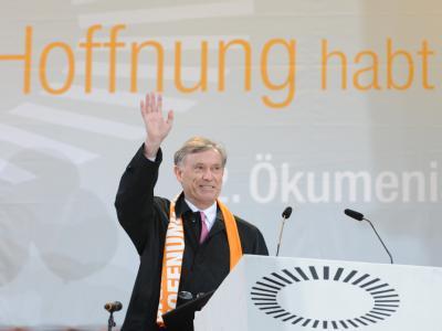 Auf dem Ökumenischen Kirchentag in München betonte Horst Köhler die Bedeutung der Christen für die Gestaltung einer solidarischen Welt.