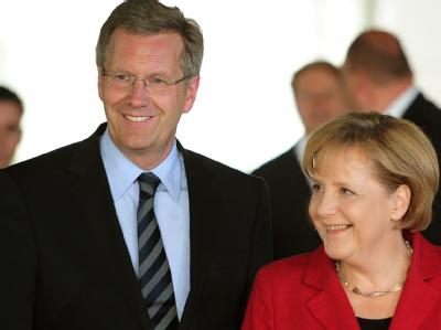 Angela Merkel und Christian Wulff