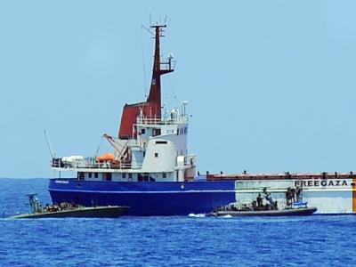 Die israelische Marine übernimmt den Frachter «Rachel Corrie».