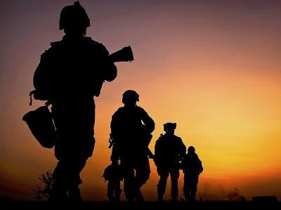 NATO-Soldaten bei einer Patrouille in Afghanistan.
