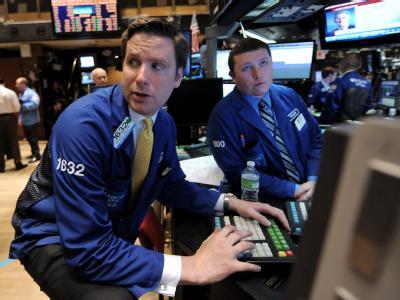 Händler an der New Yorker Wall Street.