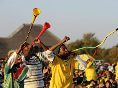 Die Mehrheit der südafrikanischen Fußball-Fans hat sich durch das Unentschieden gegen Mexiko die Laune nicht verderben lassen.