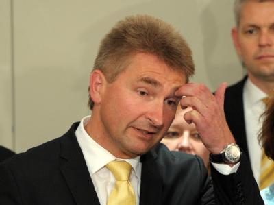 Der FDP-Landesvorsitzende Andreas Pinkwart nach dem Ende der Sondierungsgespräche.