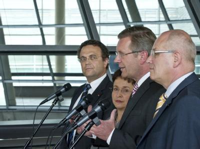 Christian Wulff besucht Bundestagsfraktionen