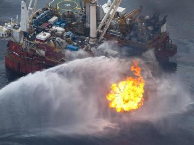 Wettlauf mit der Zeit an der Unglücksstelle im Golf von Mexiko.