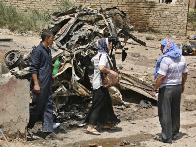 Verheerender Doppelanschlag in Bagdad: Nahezu zeitgleich explodierten zwei Autobomben.