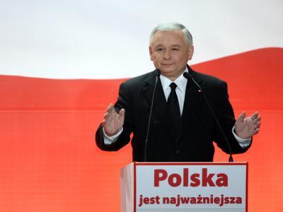 Jaroslaw Kaczynski erhielt 36,74 Prozent der Stimmen.