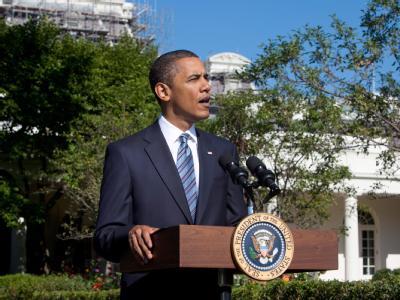 US-Präsident Barack Obama bei einer Pressekonferenz kurz vor seiner Abreise zum G8- und G20-Gipfel in Kanada.