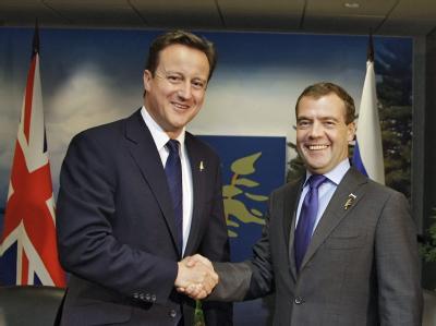 David Cameron und Dmitri Medwedew