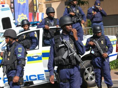 Sicherheitskräfte in Südafrika