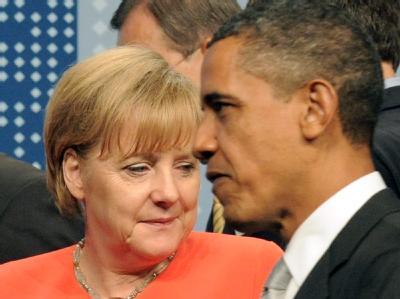 Bundeskanzlerin Merkel und US-Präsident Obama während der G20-Sitzung in Toronto.