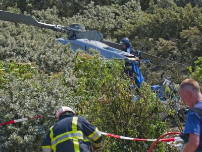 Hubschrauber st�rzt bei Rotterdam ab
