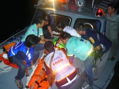 Schwerer Bootsunfall Thailand