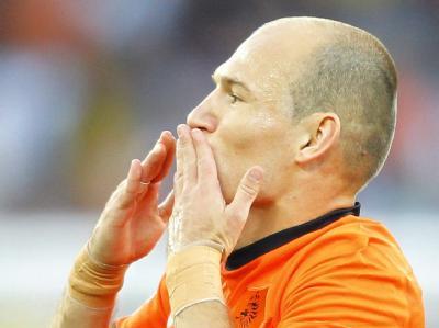Arjen Robben hat bei der WM in Südafrika sein erstes Tor erzielt.