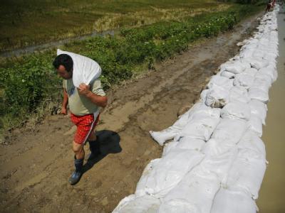 Rumänien kämpft gegen das Hochwasser.