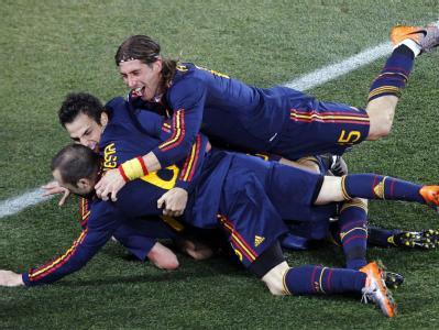 Die Freude über den Einzug ins WM-Halbfinale kannte bei den Spaniern kaum noch Grenzen.