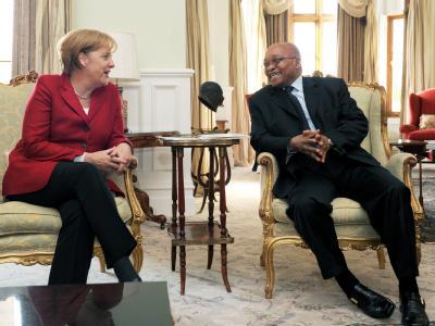Angela Merkel trifft Jacob Zuma