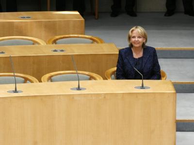 Die neue Ministerpräsidentin von Nordrhein-Westfalen, Hannelore Kraft im Landtag in Düsseldorf.