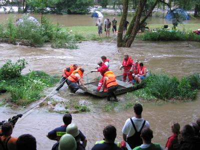 Campingplatz überflutet