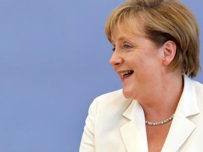 Merkel vor der Bundespressekonferenz