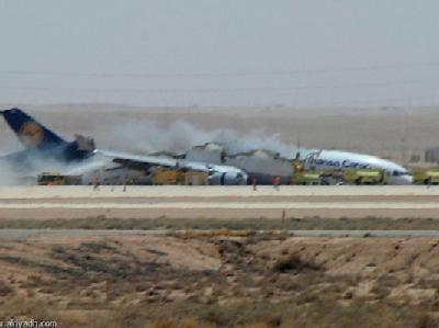 Ein Fracht-Flugzeug der Lufthansa ist beim Landeanflug im saudi-arabischen Riad abgestürzt.