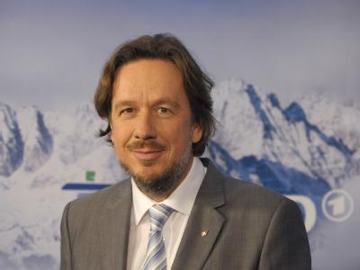 Jörg Kachelmann, aufgenommen am 09.12.2009 in Berlin während eines ARD-Pressetermins zu den Olympischen Winterspielen.