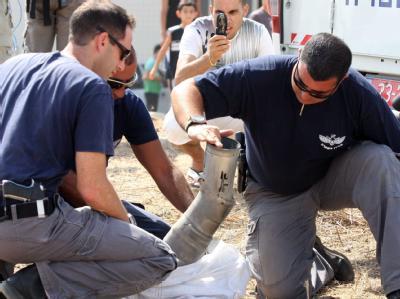 Pal�stinenser feuern Rakete auf Israel
