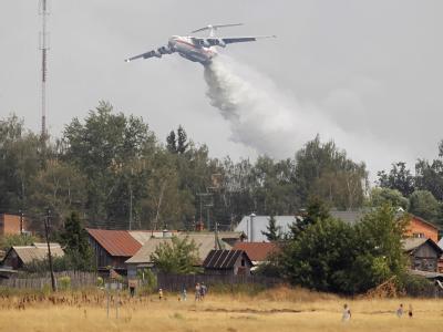 Durch Waldbrände und orkanartige Winde sind in Russland mindestens 35 Menschen gestorben.