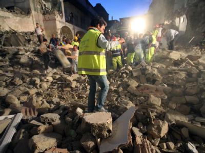 Haus bei Neapel eingestürzt