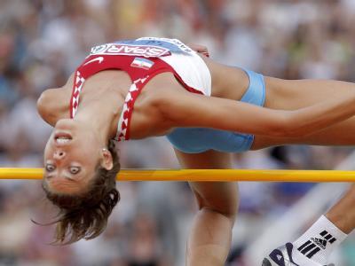 Blanka Vlasic aus Kroatien hat eine Goldmedaille im Weitsprung gewonnen.
