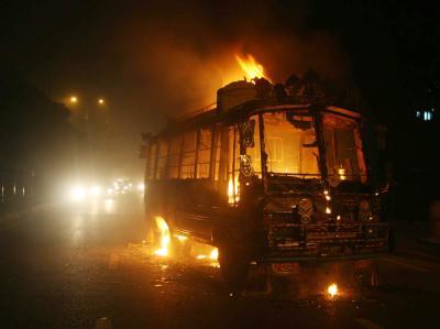 In Karachi hat es blutige Unruhen gegeben.