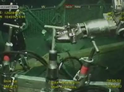 Unterwasserarbeiten am Bohrloch im Golf von Mexiko.