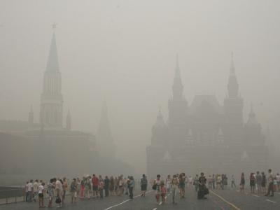 Moskau im Smog
