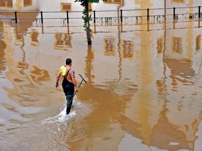 Überflutung in Sachsen