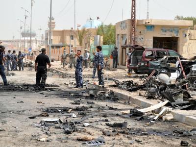 US-Soldaten an einem Anschlagsort im Irak. (Archivbild)