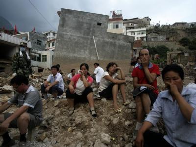 Nach den Erdrutschen im Nordwesten Chinas werden noch mehr als 1000 Menschen vermisst.