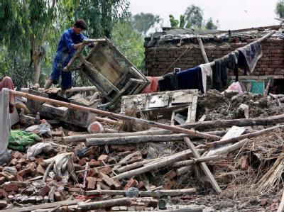 14 Millionen Menschen sind nach Einschätzung der Vereinten Nationen «direkt oder indirekt» von der Flut betroffen.