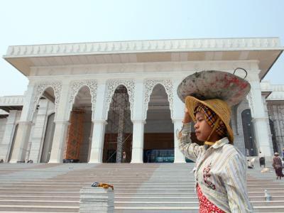 Ein neu gebautes Regierungsgebäude in Naypyitaw. In Birma wird am 7. November gewählt.
