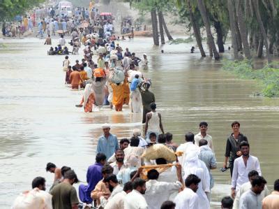 Hochwasser-Flüchtlinge in Pakistan